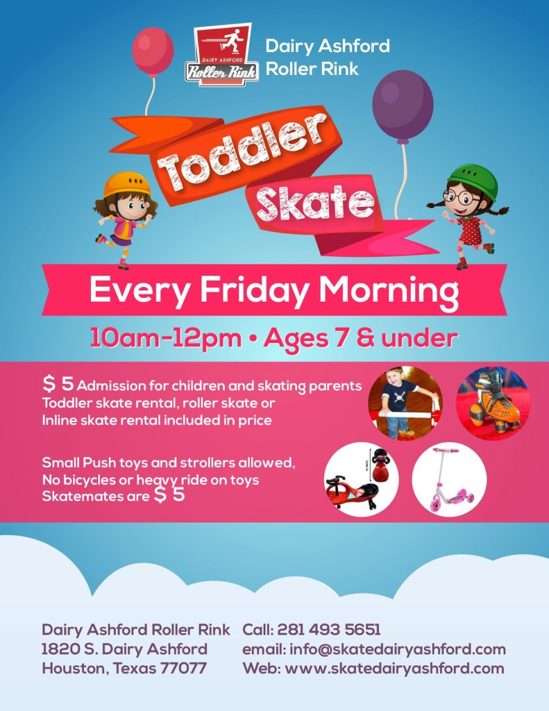 Roller skating houston - Toddler Birthday Party Packages Available During Toddler Skate Friday 10am Noon